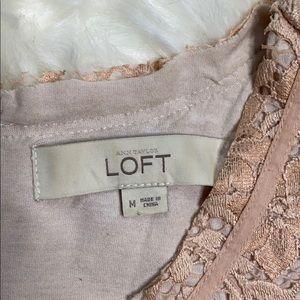 LOFT Tops - LOFT Lined Lace Sleeveless Scoop Neck Tank Top